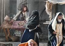 Jesus overturning